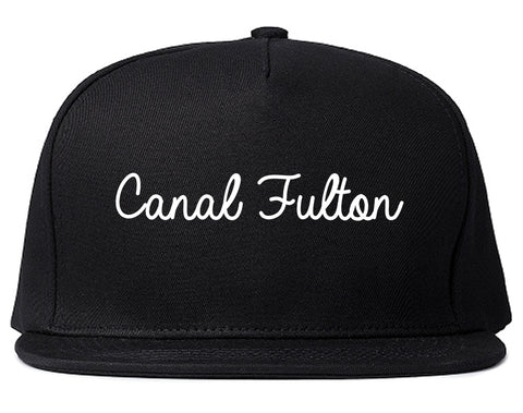 Canal Fulton Ohio OH Script Mens Snapback Hat Black