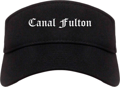 Canal Fulton Ohio OH Old English Mens Visor Cap Hat Black