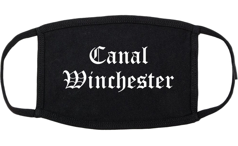 Canal Winchester Ohio OH Old English Cotton Face Mask Black