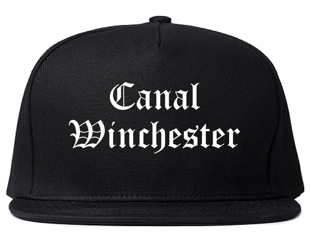 Canal Winchester Ohio OH Old English Mens Snapback Hat Black