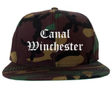 Canal Winchester Ohio OH Old English Mens Snapback Hat Army Camo