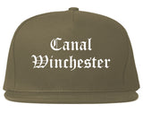 Canal Winchester Ohio OH Old English Mens Snapback Hat Grey