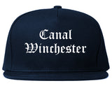Canal Winchester Ohio OH Old English Mens Snapback Hat Navy Blue