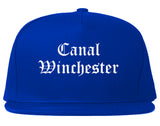 Canal Winchester Ohio OH Old English Mens Snapback Hat Royal Blue