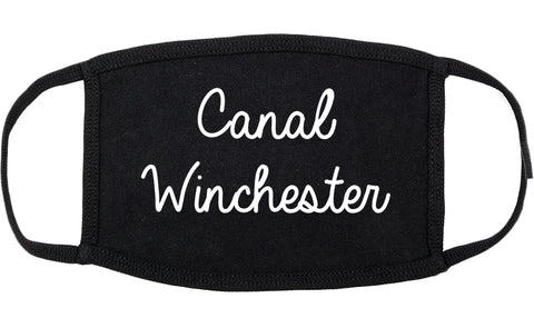 Canal Winchester Ohio OH Script Cotton Face Mask Black
