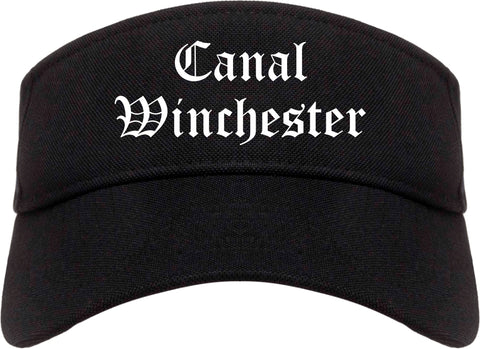 Canal Winchester Ohio OH Old English Mens Visor Cap Hat Black