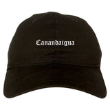 Canandaigua New York NY Old English Mens Dad Hat Baseball Cap Black