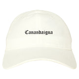 Canandaigua New York NY Old English Mens Dad Hat Baseball Cap White