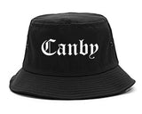Canby Oregon OR Old English Mens Bucket Hat Black
