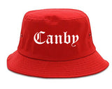 Canby Oregon OR Old English Mens Bucket Hat Red