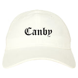 Canby Oregon OR Old English Mens Dad Hat Baseball Cap White