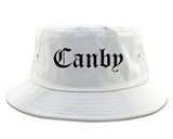 Canby Oregon OR Old English Mens Bucket Hat White
