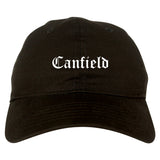 Canfield Ohio OH Old English Mens Dad Hat Baseball Cap Black