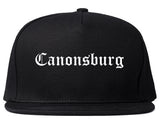 Canonsburg Pennsylvania PA Old English Mens Snapback Hat Black