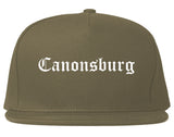 Canonsburg Pennsylvania PA Old English Mens Snapback Hat Grey
