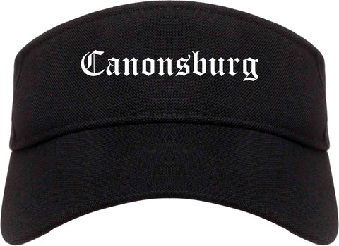 Canonsburg Pennsylvania PA Old English Mens Visor Cap Hat Black