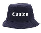 Canton Georgia GA Old English Mens Bucket Hat Navy Blue