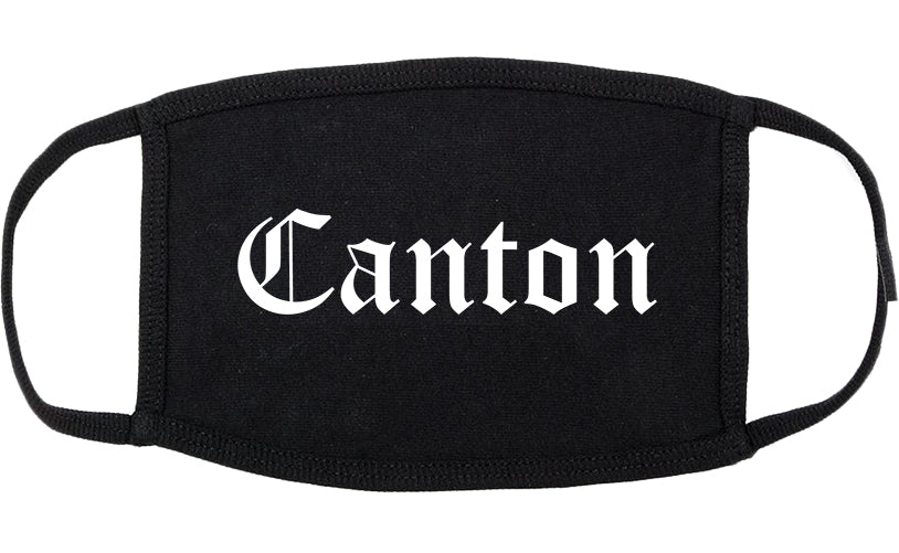 Canton Mississippi MS Old English Cotton Face Mask Black