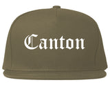 Canton Ohio OH Old English Mens Snapback Hat Grey