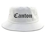 Canton Ohio OH Old English Mens Bucket Hat White