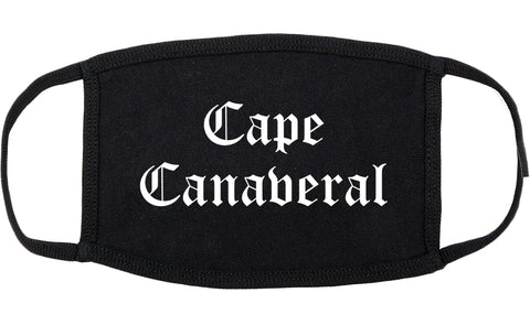 Cape Canaveral Florida FL Old English Cotton Face Mask Black