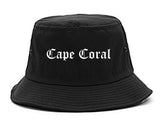 Cape Coral Florida FL Old English Mens Bucket Hat Black