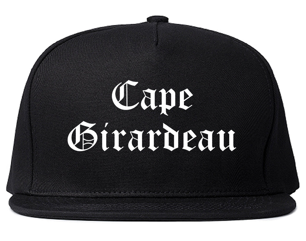 Cape Girardeau Missouri MO Old English Mens Snapback Hat Black