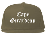 Cape Girardeau Missouri MO Old English Mens Snapback Hat Grey