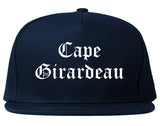 Cape Girardeau Missouri MO Old English Mens Snapback Hat Navy Blue