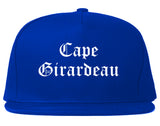 Cape Girardeau Missouri MO Old English Mens Snapback Hat Royal Blue