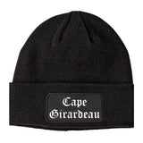 Cape Girardeau Missouri MO Old English Mens Knit Beanie Hat Cap Black