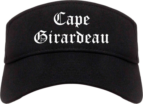 Cape Girardeau Missouri MO Old English Mens Visor Cap Hat Black