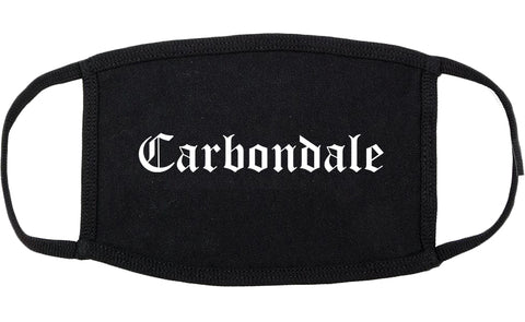 Carbondale Colorado CO Old English Cotton Face Mask Black