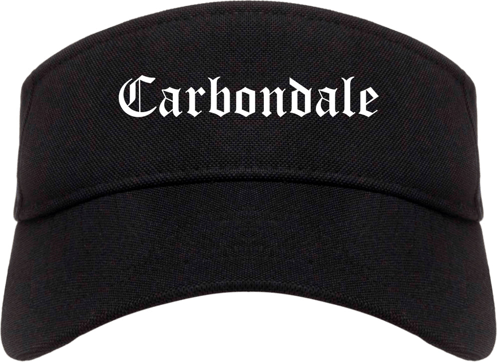 Carbondale Colorado CO Old English Mens Visor Cap Hat Black