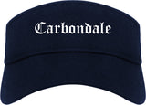 Carbondale Colorado CO Old English Mens Visor Cap Hat Navy Blue