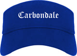 Carbondale Colorado CO Old English Mens Visor Cap Hat Royal Blue