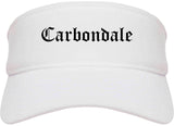 Carbondale Colorado CO Old English Mens Visor Cap Hat White
