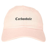 Carbondale Illinois IL Old English Mens Dad Hat Baseball Cap Pink