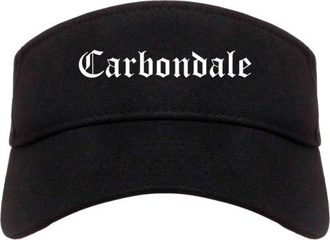 Carbondale Illinois IL Old English Mens Visor Cap Hat Black