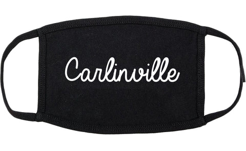 Carlinville Illinois IL Script Cotton Face Mask Black