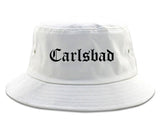 Carlsbad California CA Old English Mens Bucket Hat White