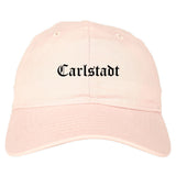 Carlstadt New Jersey NJ Old English Mens Dad Hat Baseball Cap Pink