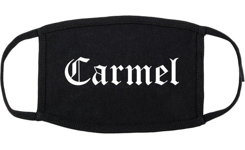 Carmel Indiana IN Old English Cotton Face Mask Black