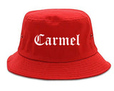 Carmel Indiana IN Old English Mens Bucket Hat Red