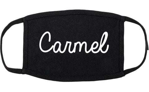 Carmel Indiana IN Script Cotton Face Mask Black