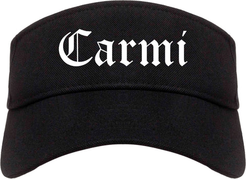 Carmi Illinois IL Old English Mens Visor Cap Hat Black