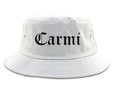 Carmi Illinois IL Old English Mens Bucket Hat White