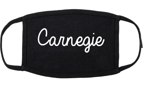 Carnegie Pennsylvania PA Script Cotton Face Mask Black