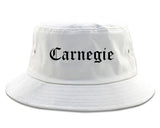 Carnegie Pennsylvania PA Old English Mens Bucket Hat White