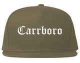 Carrboro North Carolina NC Old English Mens Snapback Hat Grey